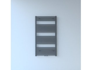Throne Bathrooms Exclusive line 2.0 radiator 60x120cm 617watt recht middenaansluiting grijs metallic SW204505