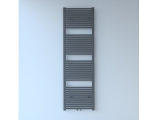Throne Bathrooms Exclusive line 2.0 radiator 50x180cm 844watt recht middenaansluiting grijs metallic SW204504