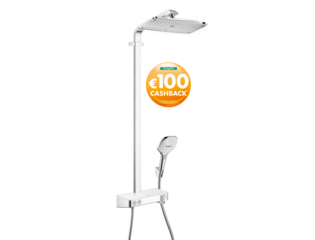 Hansgrohe Raindance select e 360 showerpipe showertablet wit chroom