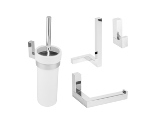 Aliseo Eighteen toilet accessoireset 4 delig chroom SW207662