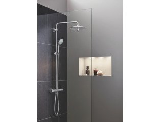 Grohe Euphoria douchesysteem thermostatisch en Euphoria hoofddouche 260mm en handdouche Massage chroom OUTLET OUT6231