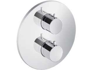 Hotbath Cobber Robinet de douche thermostatique encastrable inverseur 2 voies chrome SW209120
