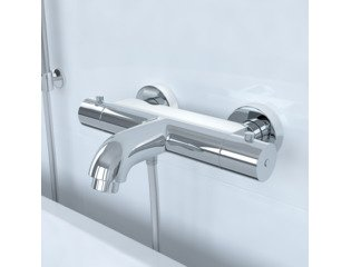 Saniclass Brauer Stuttgart 5502 Mitigeur de bain thermostatique chrome SW1183