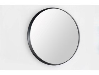 Saniclass Exclusive Line Miroir standard 80cm rond cadre Noir DESTOCKAGE OUT6202