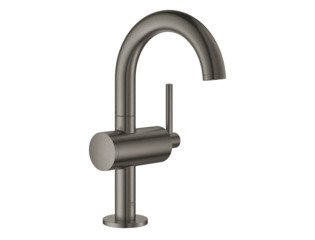 Grohe Atrio 1-gats wastafelkraan M-size m. push open brushed hard graphite SW224945