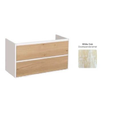 Saniclass New Future badmeubelfront White oak 100cm OUTLET