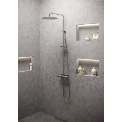 Brauer Chrome Edition showerpipe met 30cm regendouche chroom