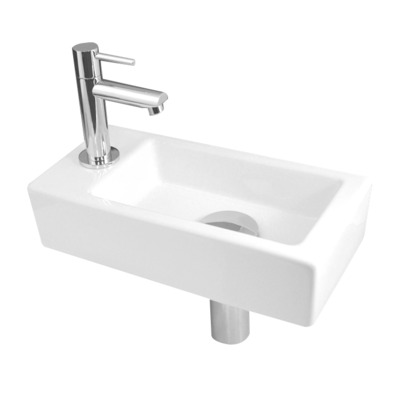 Best Design Class Set lave mains 36x18cm robinet gauche Blanc