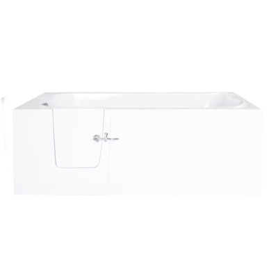 Saniclass Curacao Instap ligbad S LinksB76xH60xL140 cm polyster wit deur links
