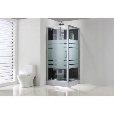 Exellence Thermo complete douchecabine 80x80x218cm alu glas