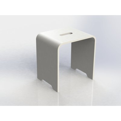 Crosstone by Arcqua Solid seat design Stoel Solid Surface mat wit
