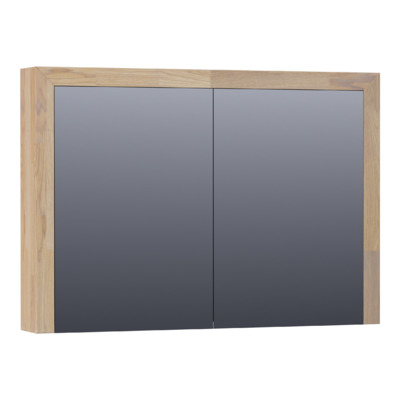 Saniclass Natural Wood spiegelkast 100 2 deuren Grey Oak