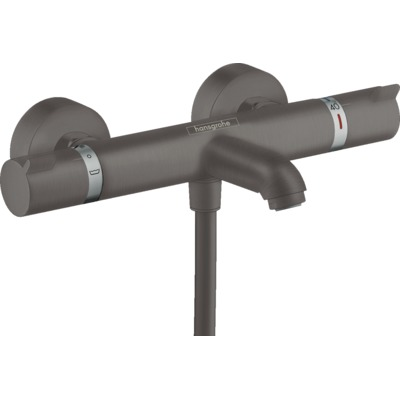 Hansgrohe Ecostat Mitigeur baignoire thermostatique Comfort mural Brushed Black Chrome