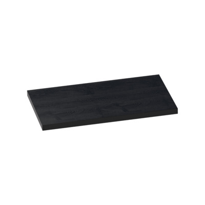 Saniclass TopPlaat 81x46cm rectangulaire MFC Black Wood