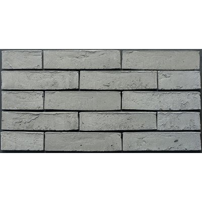 Vtwonen Brick Basic 5x20cm Gebakken Steenstrip 20mm Light Grey Mat Grijs