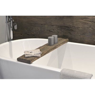 Looox Wooden Collection Raw Pont baignoire 88x16x4cm chêne massif