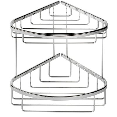 Geesa Basket Corbeille de douche double et grande chrome