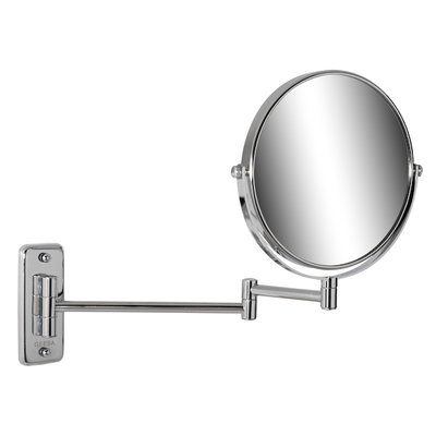 Geesa Mirror Collection scheerspiegel 2 armig 5x vergrotend 20cm chroom