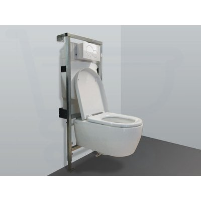 Throne Bathrooms Salina inbouwset met wandcloset en softclose zitting en afdekplaat wit