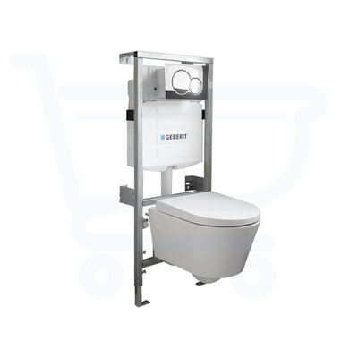 Throne Bathrooms Salina Compact inbouwset met softclose zitting afdekplaat chroom