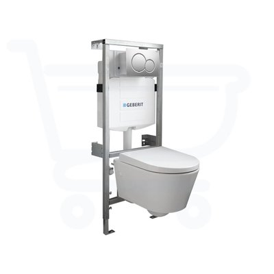 Throne Bathrooms Salina Compact inbouwset met softclose zitting afdekplaat mat chroom