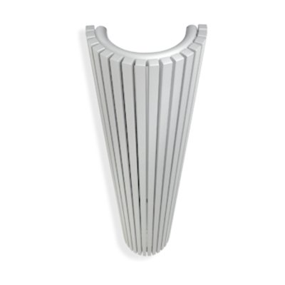 Vasco Carre Halfrond CR O designradiator halfrond verticaal 430x2000mm 2174 watt wit