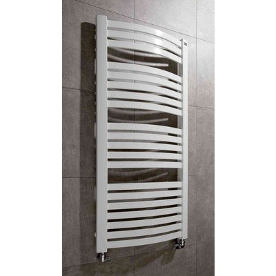 Throne Bathrooms Round Designradiator 141x57cm ADW onder 14055 STA antraciet Glans 892 Watt