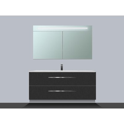 Saniclass Exclusive Line Kera 100 badmeubel met spiegelkast Black Diamond