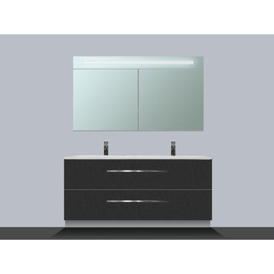 Saniclass Exclusive line Kera 120 badmeubel met spiegelkast Black Diamond 2 lades