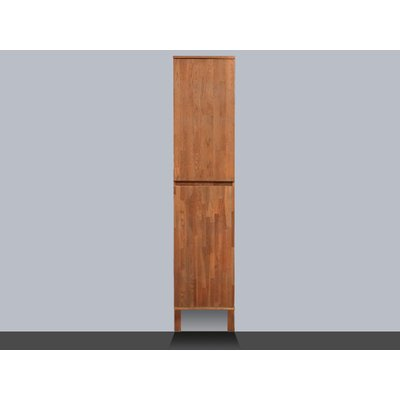 Saniclass Natural Wood Armoire colonne haute 160cm bois massif Grey Oak base incluse