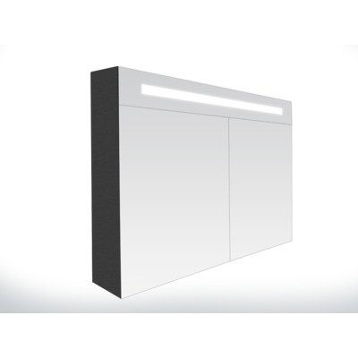 Saniclass Double Face Armoire de toilette avec miroir 99cm 2 portes Black Diamond