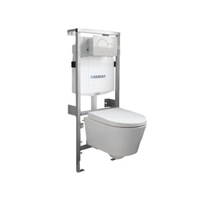 Throne Bathrooms Salina Compact inbouwset met softclose zitting afdekplaat wit