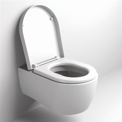 Clou First wandtoilet met zitting soft closing en quick release syteem wit
