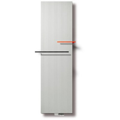 Vasco Bryce Plus BV designradiator 1800x375mm 1373W aansluiting 0066 wit structuur