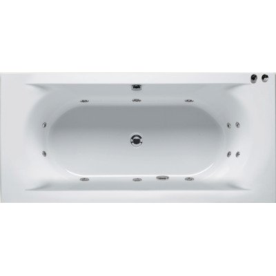 Riho Easypool 3.0 Lima whirlpoolbad 180x80cm pneumatisch wit glans