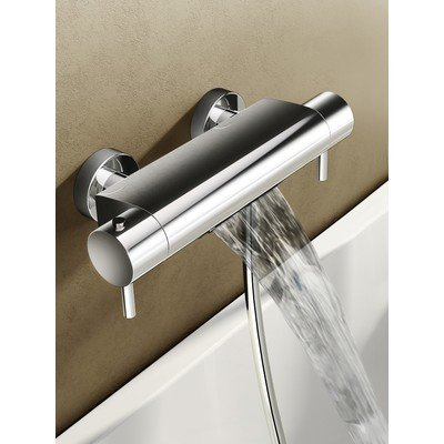 Hotbath Buddy Mitigeur de bain thermostatique avec jet cascade chrome