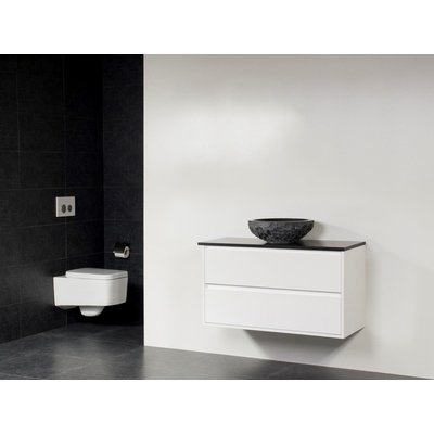 Saniclass New Future Corestone13 vasque à poser naturelle meuble 100cm Blanc brillant sans miroir