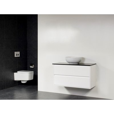 Saniclass New Future Corestone13 vasque à poser blanche meuble 100cm Blanc brillant sans miroir