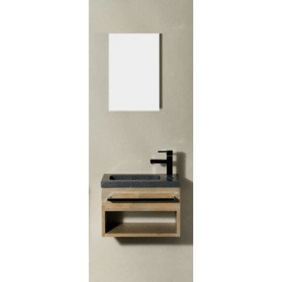 Saniclass Natural Wood Fonteinset grey oak 40x22cm
