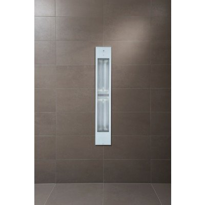 Sunshower Pure White XL infrarood inbouwapparaat 19.9x123.8x10cm full body 2000watt wit/aluminium