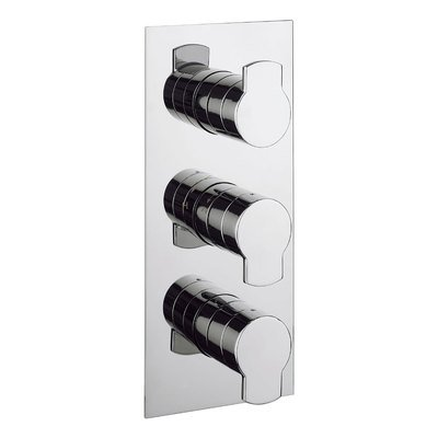 Crosswater Wisp inbouw douchekraan thermostatisch 3 greeps staand chroom
