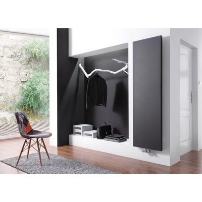Throne Bathrooms Lupo paneelradiator 182x60cm midden aansluiting 1135watt grafit mat