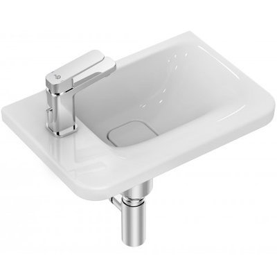 Ideal Standard Tonic II fontein met kraangat links zonder overloop 46x31cm Ideal Plus met IdealFlow wit