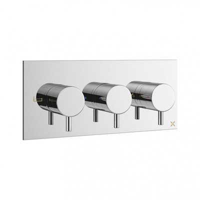 Crosswater MPRO Partie de finition robinet de douche thermostatique encastrable 27.5x12cm horizontal avec inverseur chrome