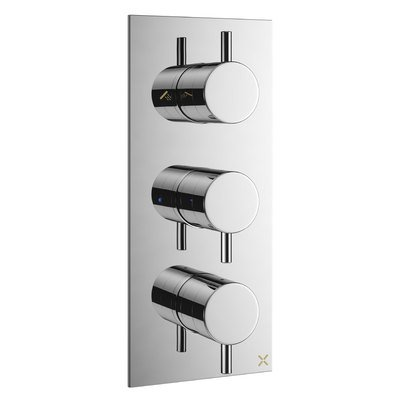Crosswater MPRO Set de finition pour mitigeur de bain thermostatique encastré 27.5x12cm chrome