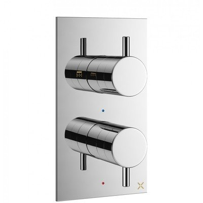 Crosswater MPRO Robinet de douche encastrable thermostatique avec partie de finition 21.5x12cm chrome