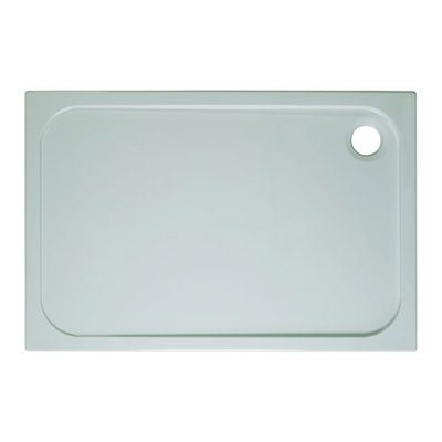 Simpsons Shower Tray Receveur de douche 100x80cm rectangulaire stone résin blanc
