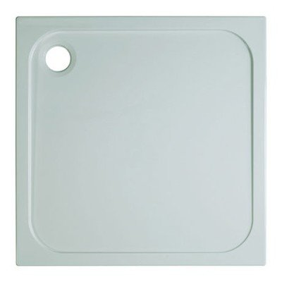 Simpsons Shower Tray Receveur de douche 90x90x4.5cm carré blanc