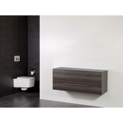 Saniclass Exclusive Line Small onderkast 99x39x50cm 2 lades met softclose MFC legno antracite