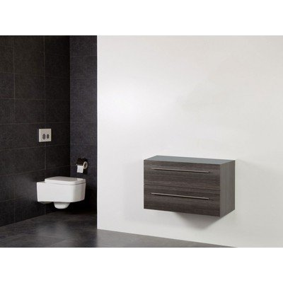 Saniclass Exclusive Line Small onderkast 80.2x39x50cm 2 lades met softclose MFC legno antracite